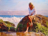Artist Garmash portrait