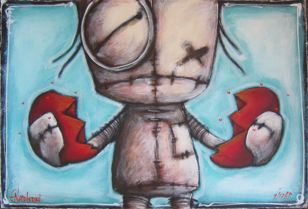 Fabio Napoleoni Fabio Napoleoni Mixed Media on Paper Does It Ever Heal (AP)