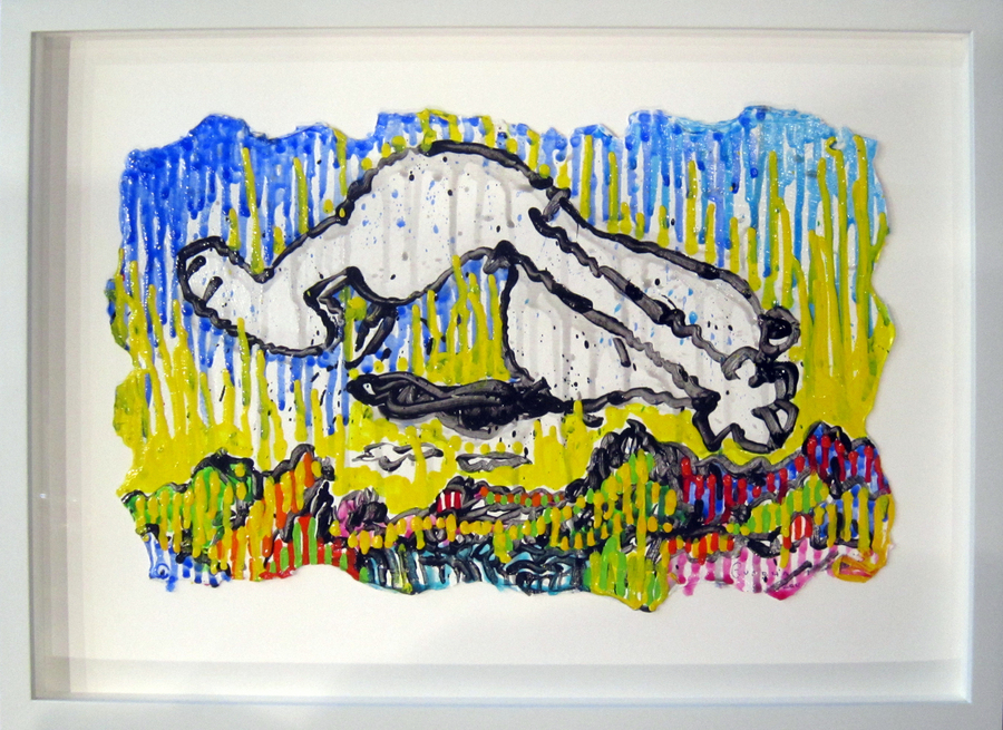 Tom Everhart Tom Everhart Original Acrylic on Paper Back Flip (Original) - Framed
