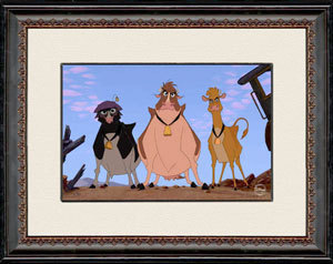 Beauty And The Beast Art Walt Disney Limited Edition Hand-Painted Cel Cattle Driven