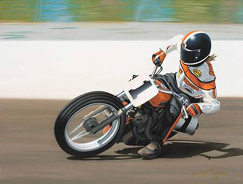 Scott Jacobs Scott Jacobs Limited Edition Giclee on Canvas Flat Out