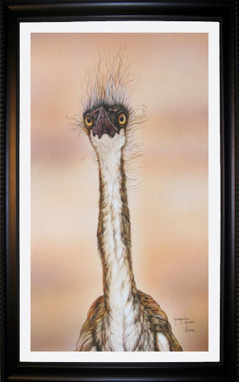 Jacquie Vaux Jacquie Vaux Original Water Color Heron Chick