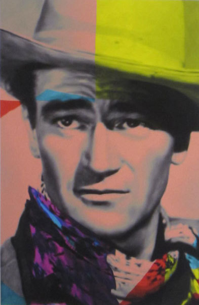James Gill James Gill Lithograph on Paper John Wayne Yellow