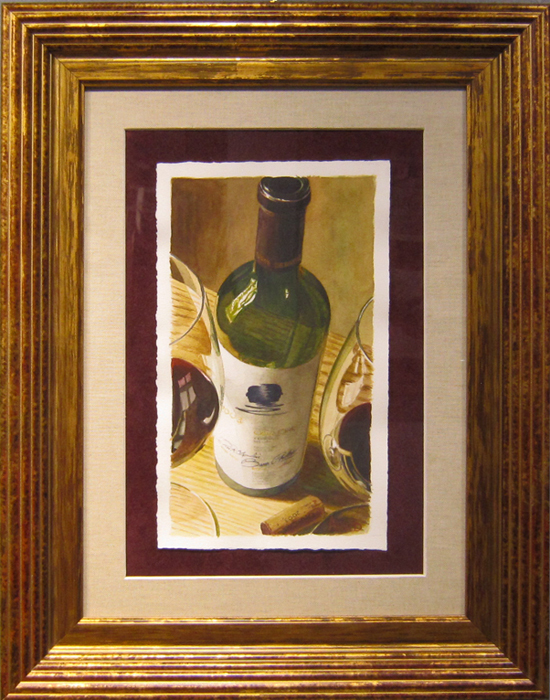 Thomas Arvid Thomas Arvid Original Water Color Shared Vision (Original)  Framed