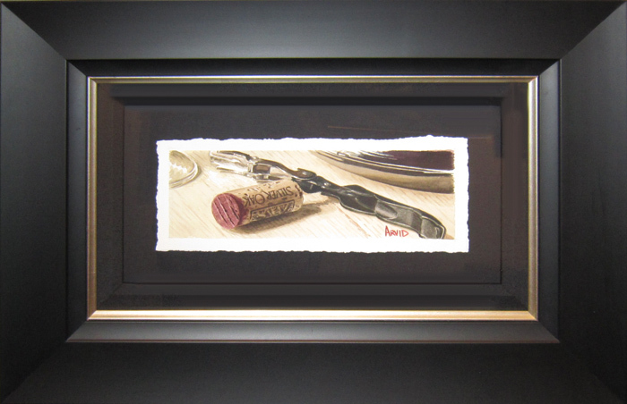 Thomas Arvid Thomas Arvid Original Water Color Silver Oak Pull (Framed) Original