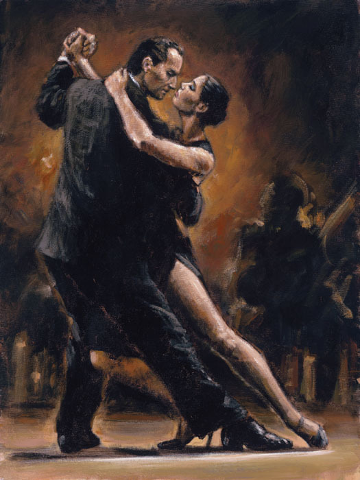 Fabian Perez Fabian Perez Limited Edition Giclee on Canvas Study For Tango II
