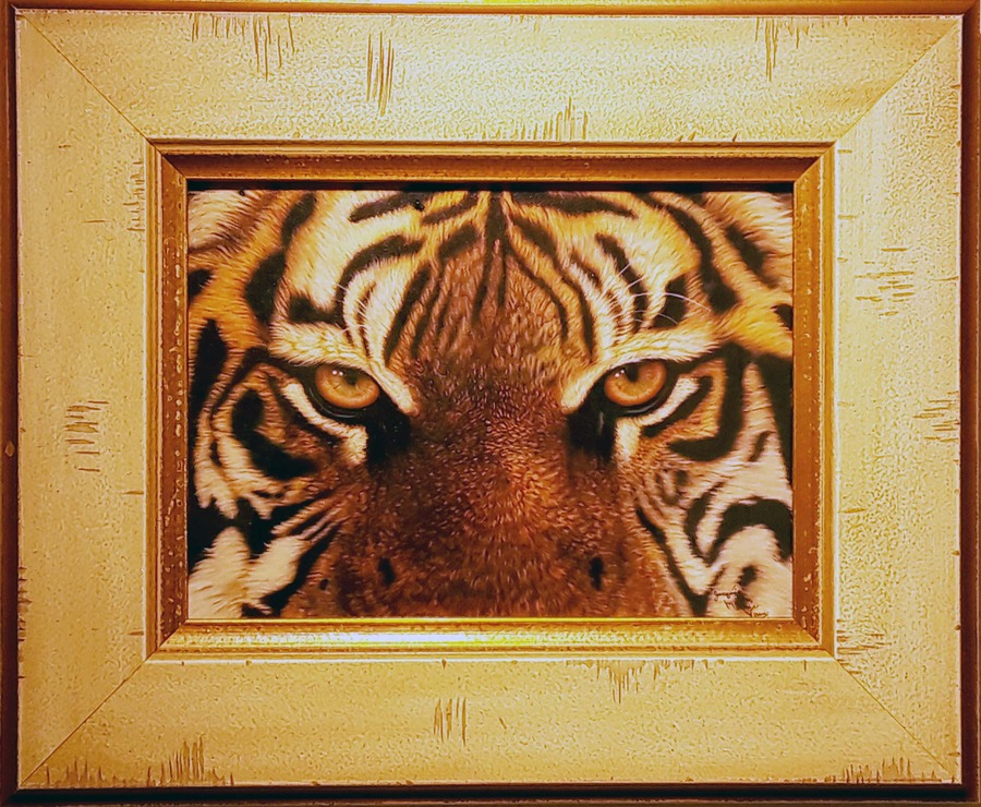 Jacquie Vaux Eyes of the Tiger - Framed