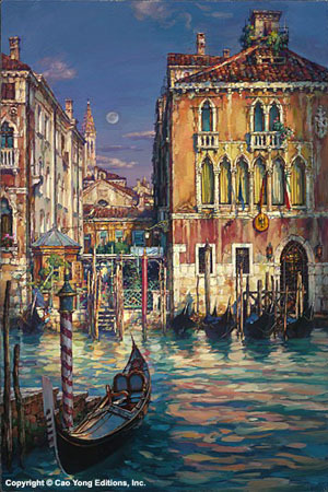 Cao Yong Cao Yong Limited Edition Giclee on Canvas Venetian Sunset