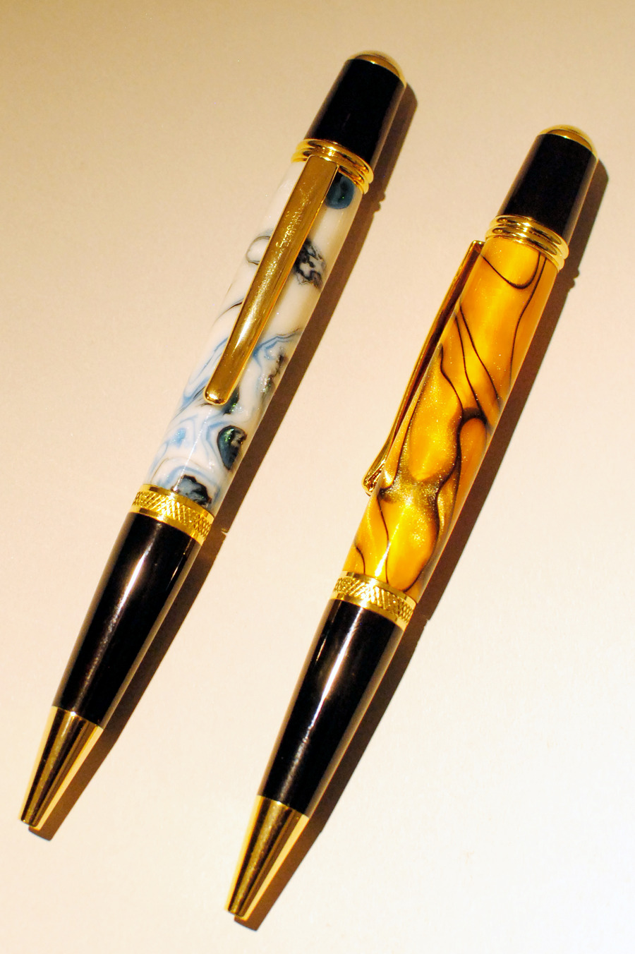 Allywood Creations Wall Street Pen - Acrylic with 24K Gold & Black