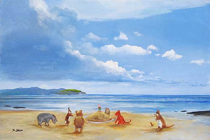 Peter Ellenshaw Pooh and Friends at the Seaside