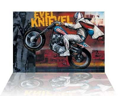Stephen Holland Stephen Holland Limited Edition Giclee on Canvas Evel Knievel