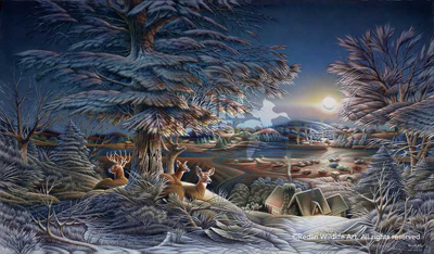 Terry Redlin Evening on the Ice