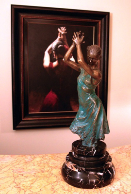 Fabian Perez Fabian Perez Sculpture Flamenco Dancer (Verde Patina)