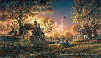 Terry Redlin Good Evening, America!