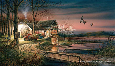 Terry Redlin Hunter's Haven AP