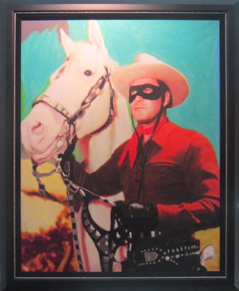 James Gill James Gill Original Acrylic on Canvas Lone Ranger