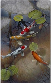 Terry Gilecki Terry Gilecki Limited Edition Giclee on Canvas Mystic Koi (AP)