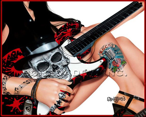 Bone Daddy Bone Daddy Limited Edition Giclee on Canvas Rock Star