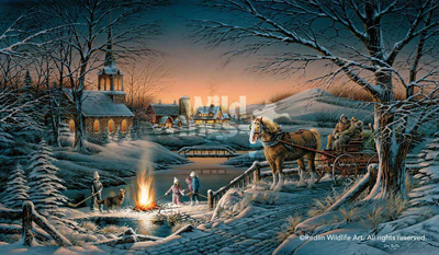 Terry Redlin Sharing the Evening AP