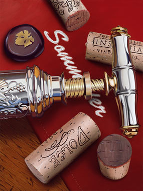 Scott Jacobs Scott Jacobs Limited Edition Giclee on Canvas Sommelier
