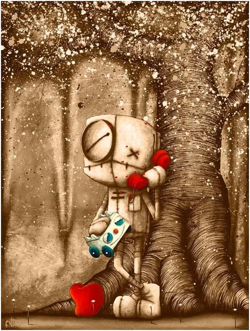Fabio Napoleoni Fabio Napoleoni Limited Edition Giclee on Canvas Your Voice Makes My Heart Sing (SN) -  Canvas