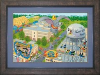 Dumbo Animation Art Walt Disney Animation Artwork A Day at the Studio (Framed)