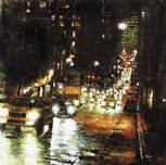 Mark Lague Street Scenes Bay Hill Lights