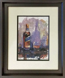 Michael Flohr Artist Blue (Framed)