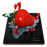 Michael Godard  Whimsical Art Bubbly Bath Sculpture