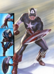 Alex Ross Superhero Artwork Captain America: Ready for Battle