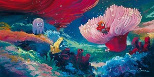 Finding Nemo Art Walt Disney Animation Artwork Come Out and Play (Deluxe)
