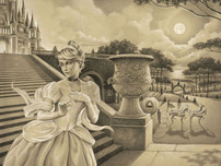 ciderella Art Walt Disney Animation Artwork Escape Before Midnight