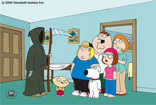 Family Guy Art 20th Century Fox Animation Artwork Death is a Bitch