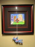 Matt Rinard Whimsical Art I'm at the End of My Rope (Framed Original)