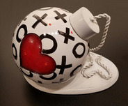 Fabio Napoleoni Art Whimsical Art Hand Painted Love Bomb