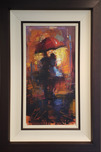 Michael Flohr Street Scenes Love in the Rain - Original (Framed)