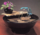 Nayer Kazemi - Water Art Sculpture Nature Bowl #103 Fountain