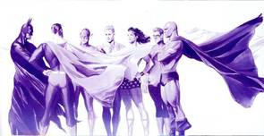 Superman Art Superhero Artwork Origins: The Justice League of America