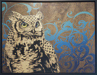 Daniel Ryan Wildlife Art Poised Wisdom (Original, Framed)