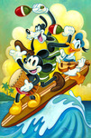 Donald Duck Art Walt Disney Animation Artwork Surf Trio
