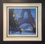 Michael Flohr Street Scenes Romance in the Air - Original (Framed)