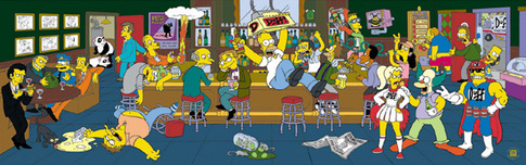 The Simpsons Art 20th Century Fox Animation Artwork Happy Hour