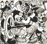 Steamboat Willie Art Walt Disney Animation Artwork Steamboat