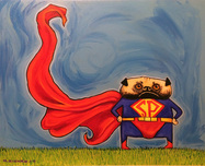 Superman Art Superhero Artwork Super Pug