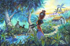 The Jungle Book Art Walt Disney Animation Artwork The Girl by the Stream