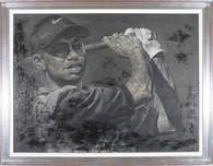 Stephen Holland Rock & Roll Artwork Tiger Woods Sportsman of the Year 1996