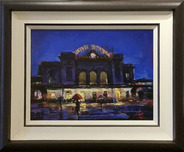 Michael Flohr Street Scenes Union Station Tonight (Framed)