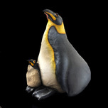 Todd Warner Whimsical Art Penguin and Baby