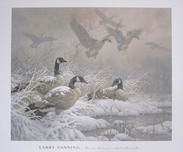 Larry Fanning Western Art Winter Retreat - Canada Geese (Poster)