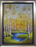 Inam Landscape Autumn Stream (Framed)